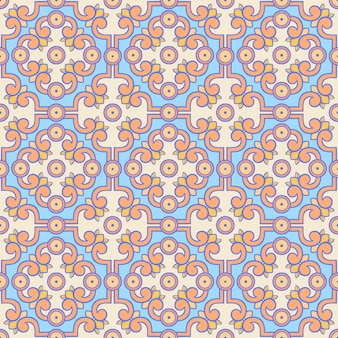 Retro orange and blue pattern