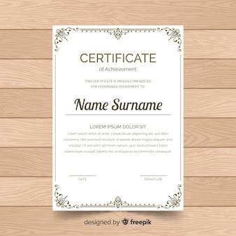 Retro ornamental certificate template