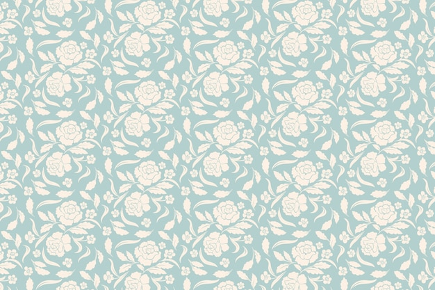 Retro ornamental flowers background