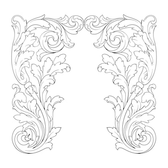 Retro ornamental frame border