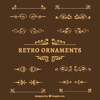 Retro ornaments pack