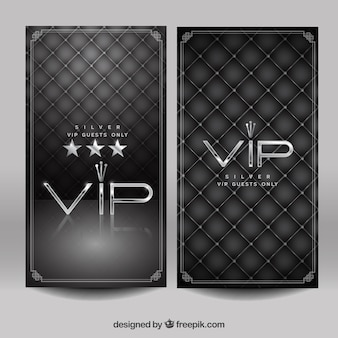Retro pack of vintage silver vip cards