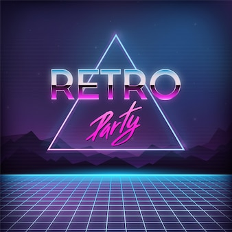 Retro party 1980s background