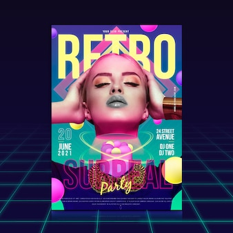 Retro party with surreal effect