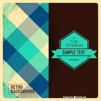 Retro pattern background with badge