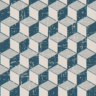 Retro pattern with cubic line geometry