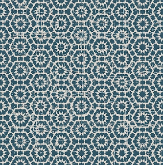다각형 꽃 레이스와 복고풍 패턴
