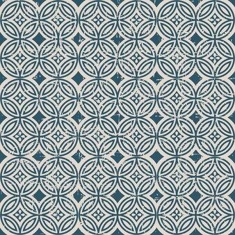 라운드 크로스 라인 꽃과 복고풍 패턴