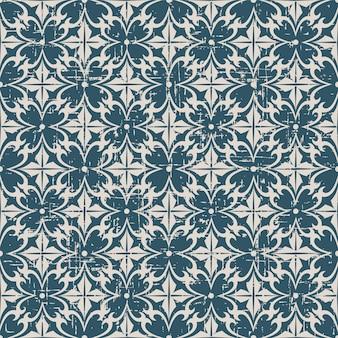 나선형 곡선과 복고풍 패턴 라운드 크로스 꽃