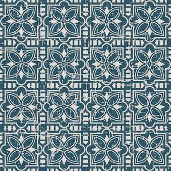 사각 크로스 starflower 복고풍 패턴