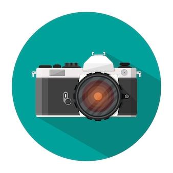 Значок ретро фотоаппарат