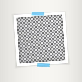 그림자와 함께 레트로 사진 프레임입니다. 삽화.