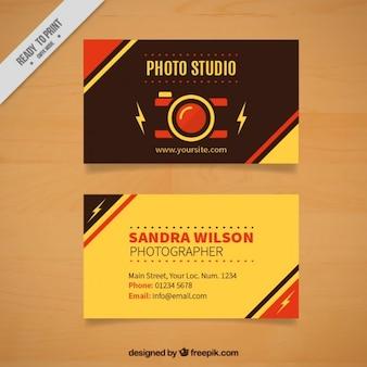 레트로 사진 스튜디오 카드