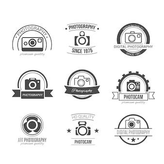 Retro photography badges