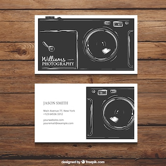 Retro photography visit card