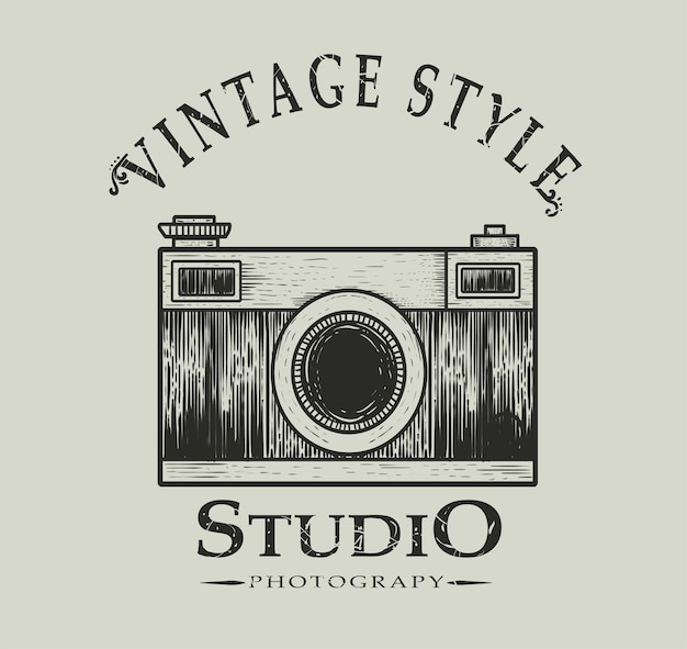 Ретро фотостудия логотип