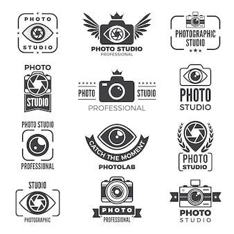 Retro pictures and logos for photo studios.