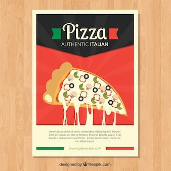 Ретро-брошюра о пицце и сыре