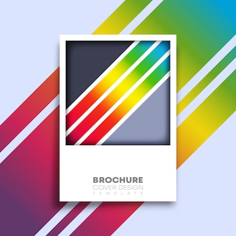 Retro poster with colorful gradient lines