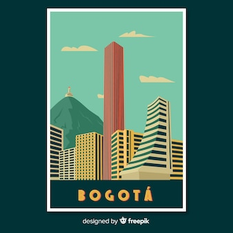 Retro promotional poster of bogota