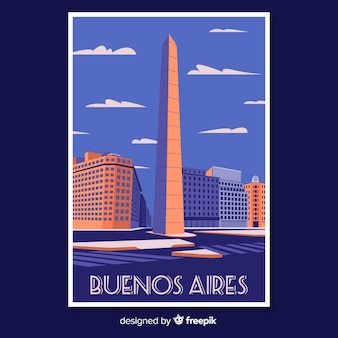 Retro promotional poster of buenos aires