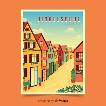 Retro promotional poster of dinkelsbuhl