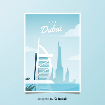 Retro promotional poster of dubai