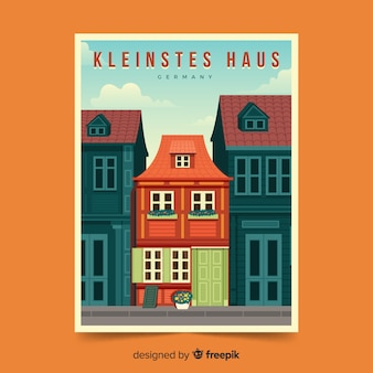 Retro promotional poster of kleinstes haus