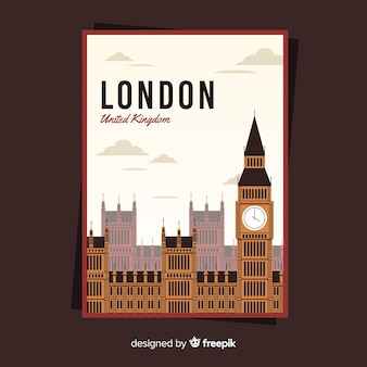 Retro promotional poster of london
