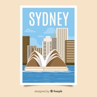 시드니의 레트로 홍보 포스터