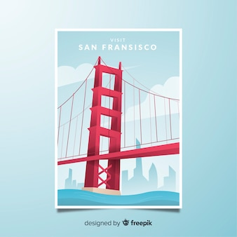 Retro promotional poster of san francisco