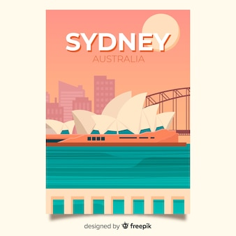 Retro promotional poster of sydney