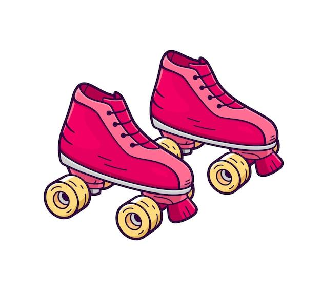 Retro quad roller skates.