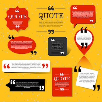 Retro quotation mark speech bubble, quote block design element