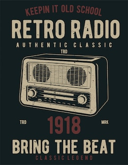 Retro radio illustration design