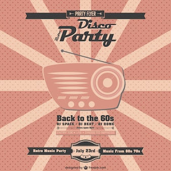 Retro radio music party poster