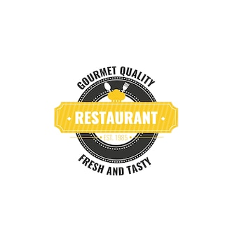 Retro restaurant corporate identity logo template