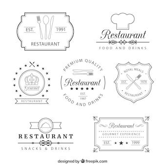 Retro restaurant insignias