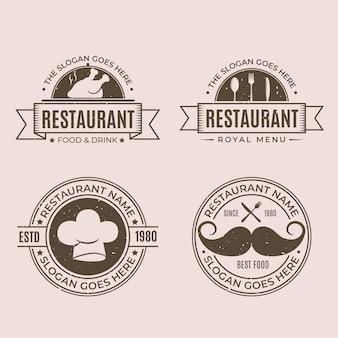 Retro restaurant logo collection