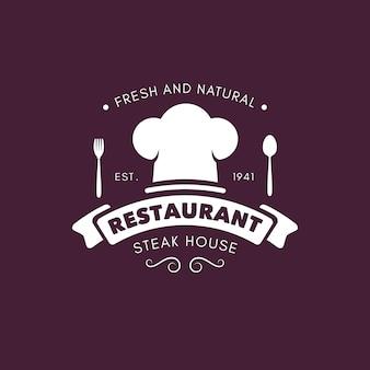 レトロなレストランのロゴのコンセプト