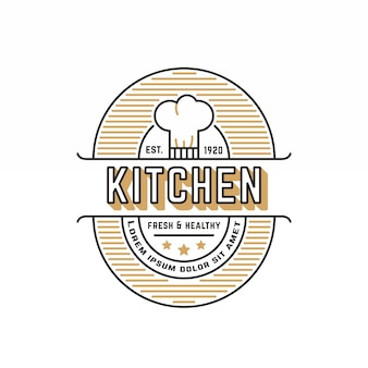 Retro restaurant logo template