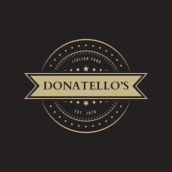 Тема логотипа ресторана ретро