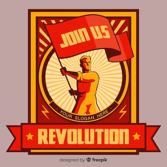 Retro revolution propaganda