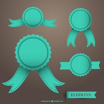 Retro ribbon baddge