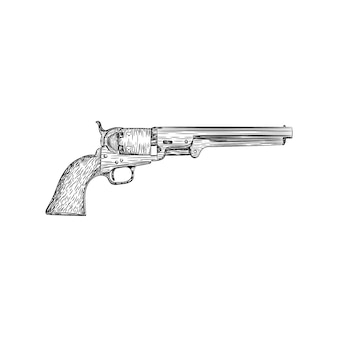 A retro rifle gun illustration