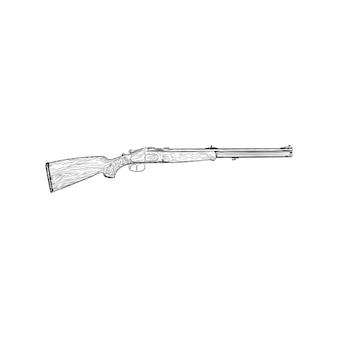 A retro rifle illustration