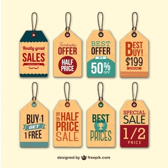 Retro sale hang tags