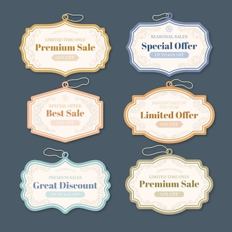 Retro sale tags collection