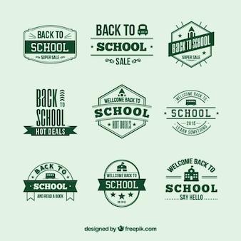レトロな学校のバッジ