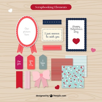 Retro scrapbooking elements